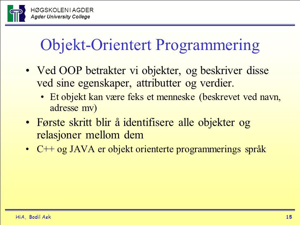 Objekt-Orientert Programmering