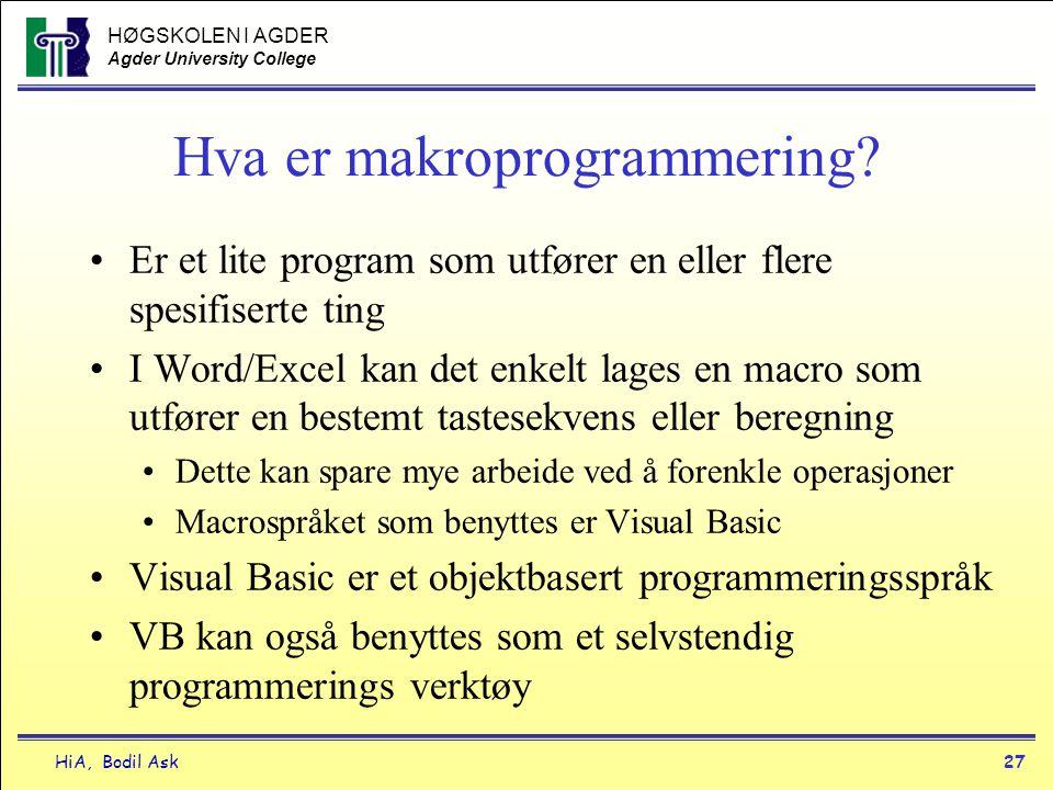 Hva er makroprogrammering