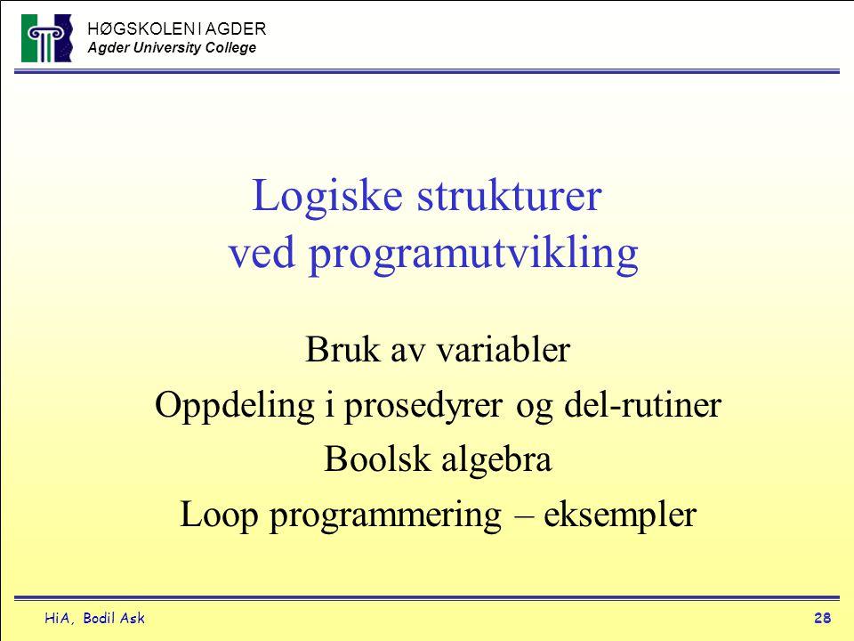 Logiske strukturer ved programutvikling