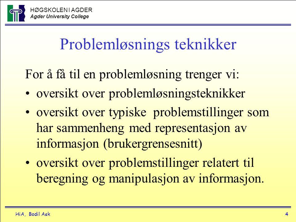Problemløsnings teknikker