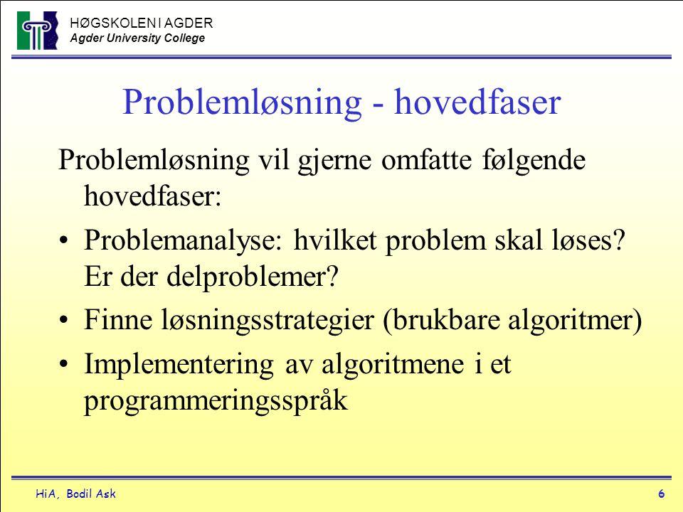 Problemløsning - hovedfaser
