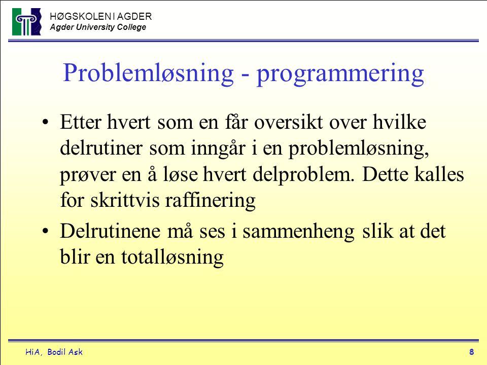 Problemløsning - programmering