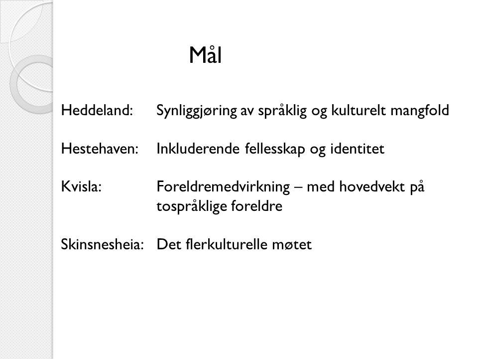Mål Heddeland: Synliggjøring av språklig og kulturelt mangfold