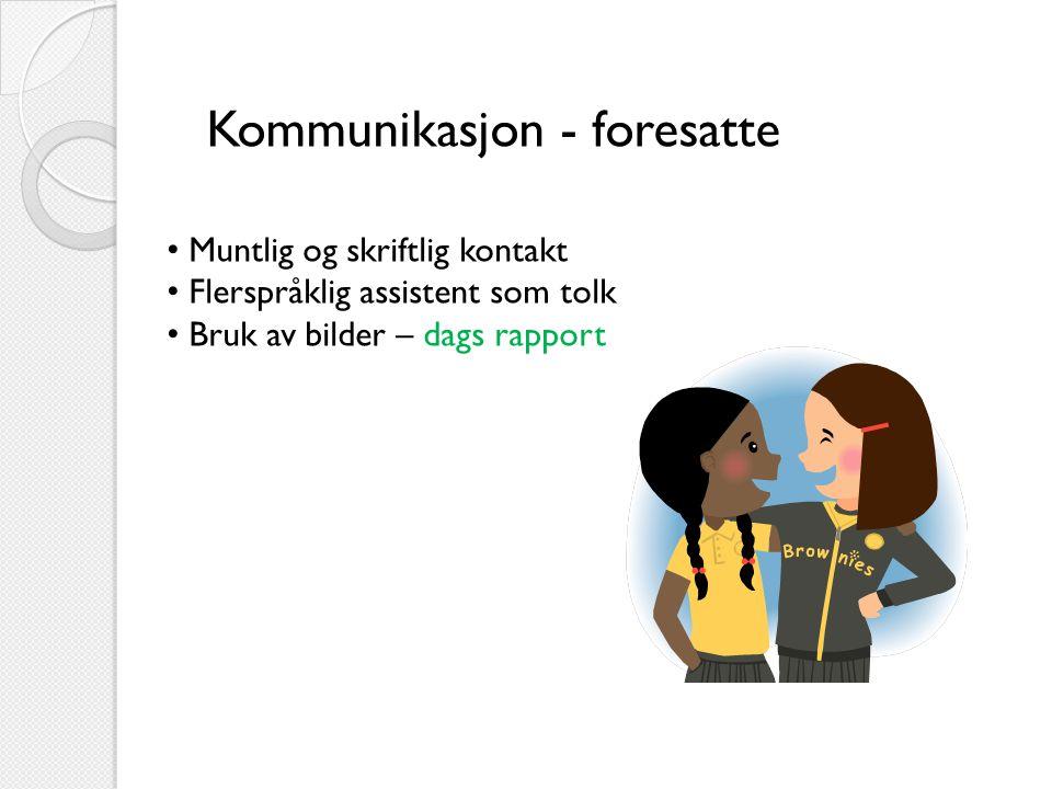 Kommunikasjon - foresatte