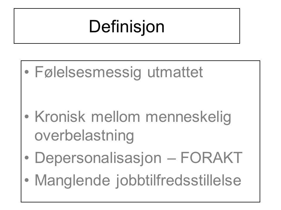 Definisjon Følelsesmessig utmattet