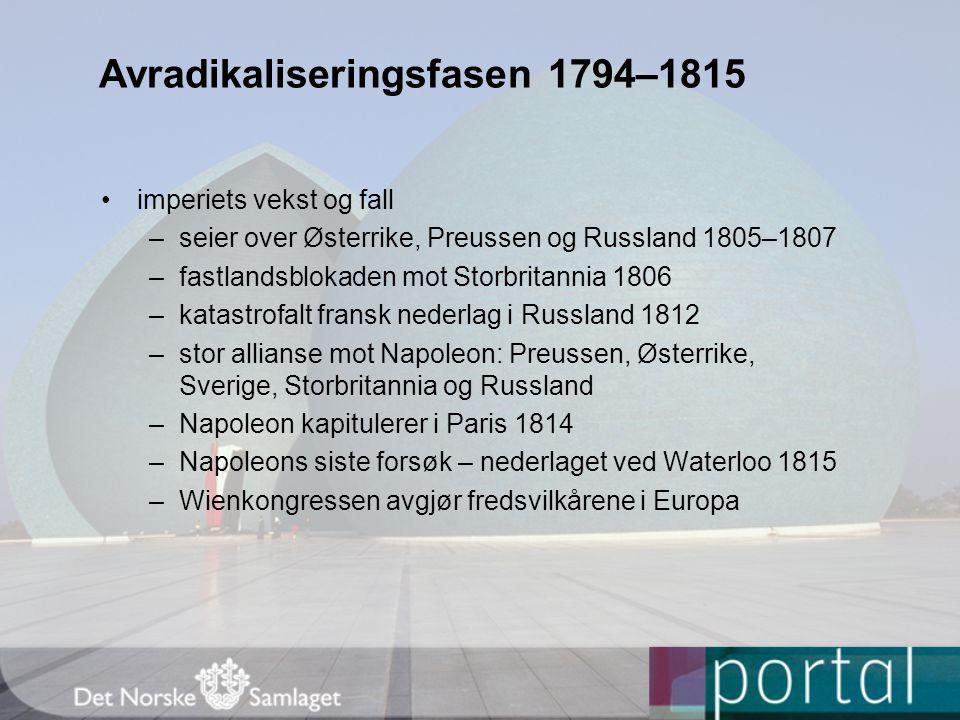 Avradikaliseringsfasen 1794–1815