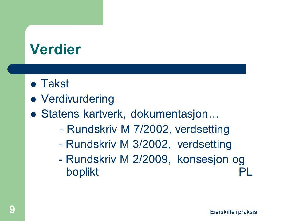 Verdier Takst Verdivurdering Statens kartverk, dokumentasjon…