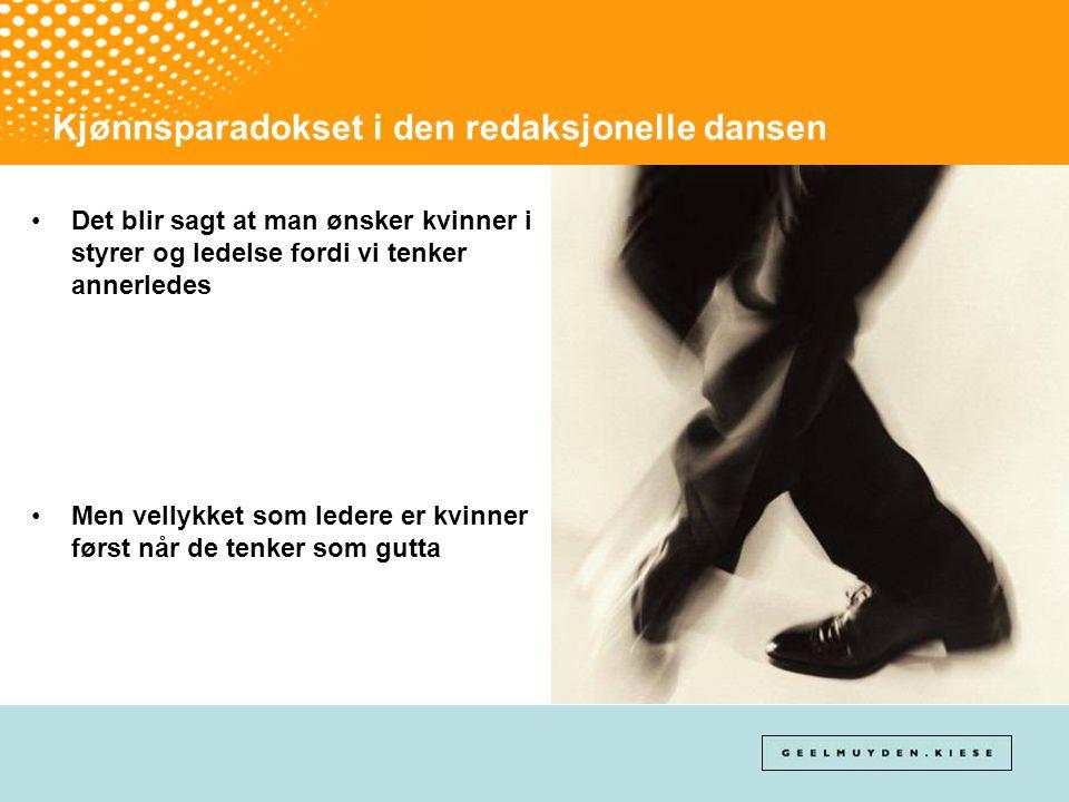 Kjønnsparadokset i den redaksjonelle dansen