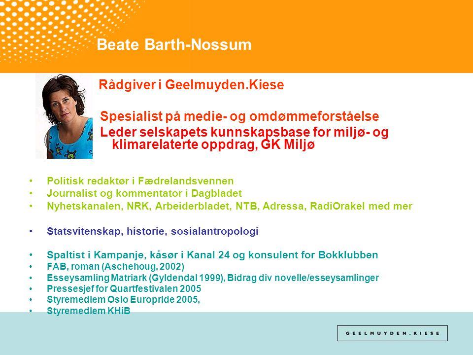 Beate Barth-Nossum Rådgiver i Geelmuyden.Kiese