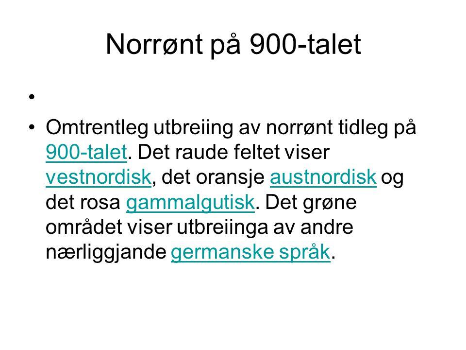 Norrønt på 900-talet