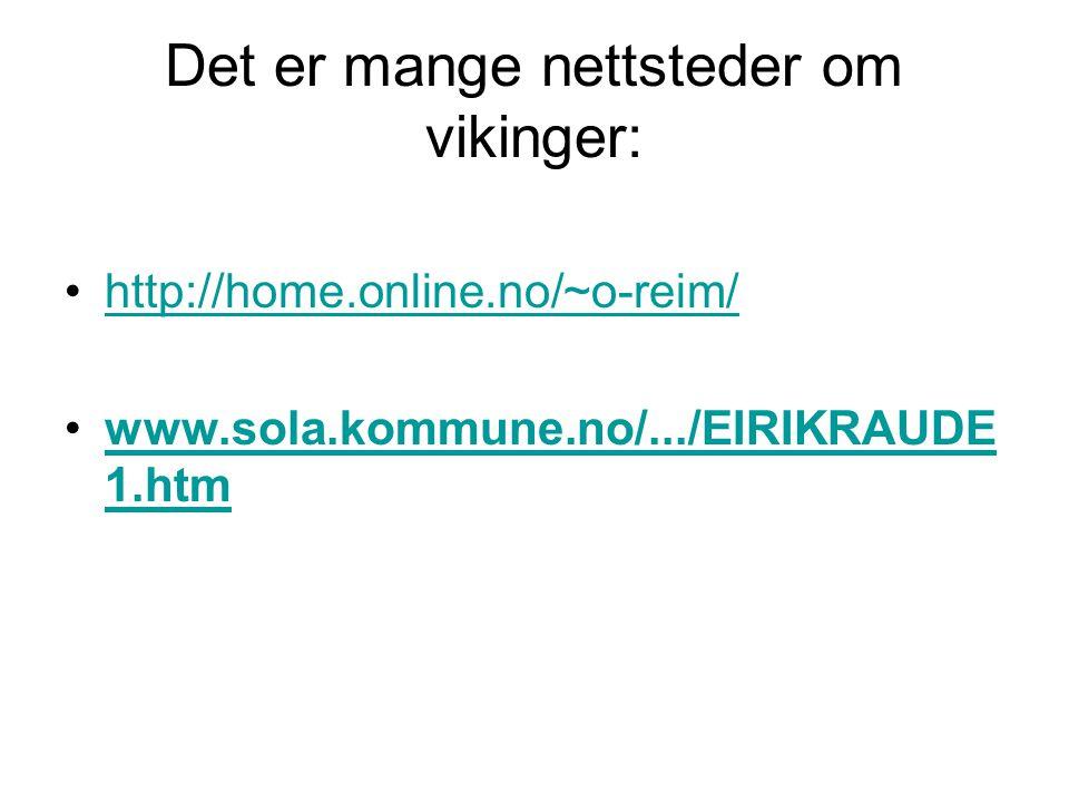 Det er mange nettsteder om vikinger: