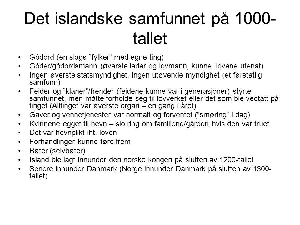Det islandske samfunnet på 1000-tallet