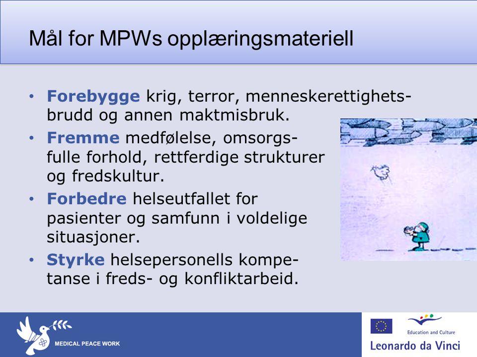 Mål for MPWs opplæringsmateriell