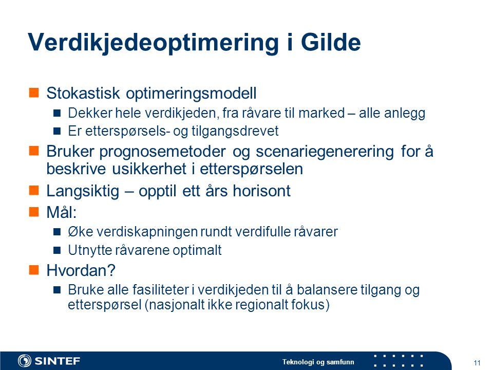 Verdikjedeoptimering i Gilde