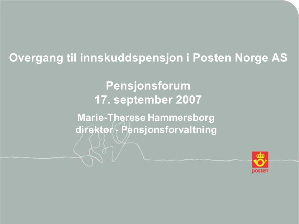 Marie-Therese Hammersborg direktør - Pensjonsforvaltning