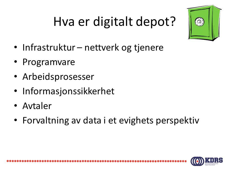 Hva er digitalt depot Infrastruktur – nettverk og tjenere Programvare