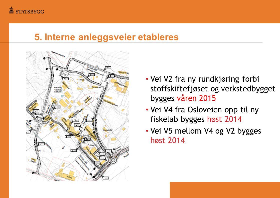 5. Interne anleggsveier etableres