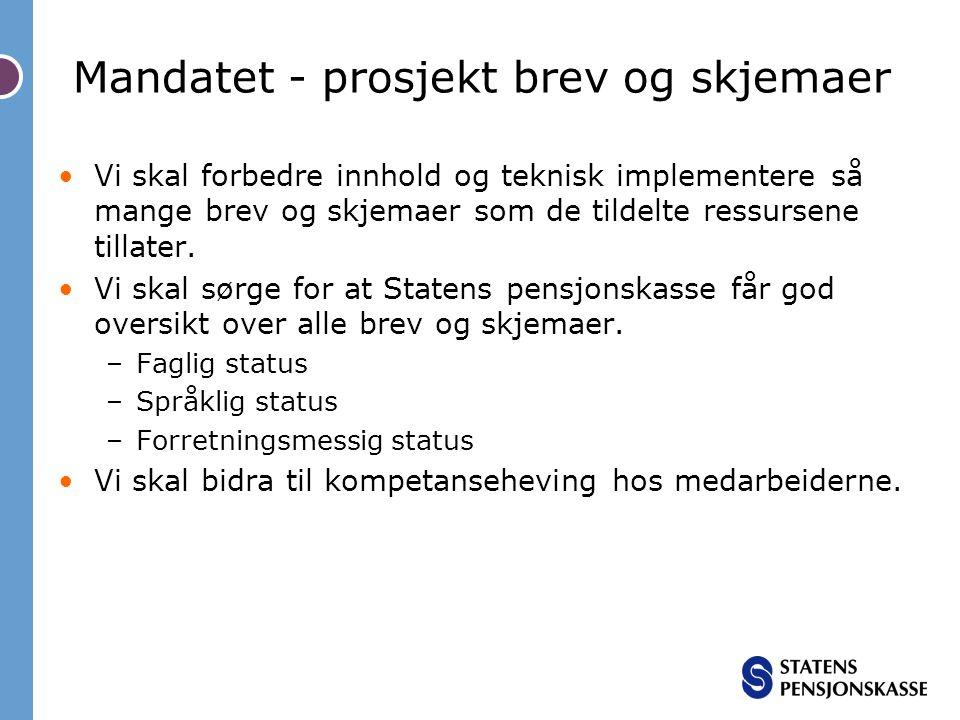 Mandatet - prosjekt brev og skjemaer