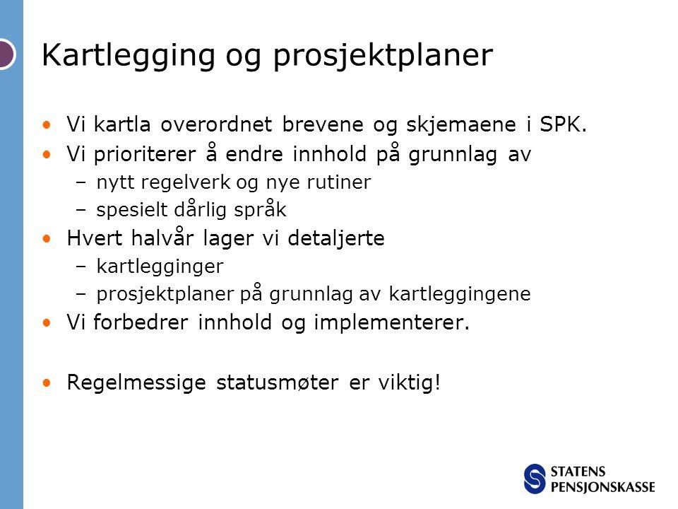 Kartlegging og prosjektplaner