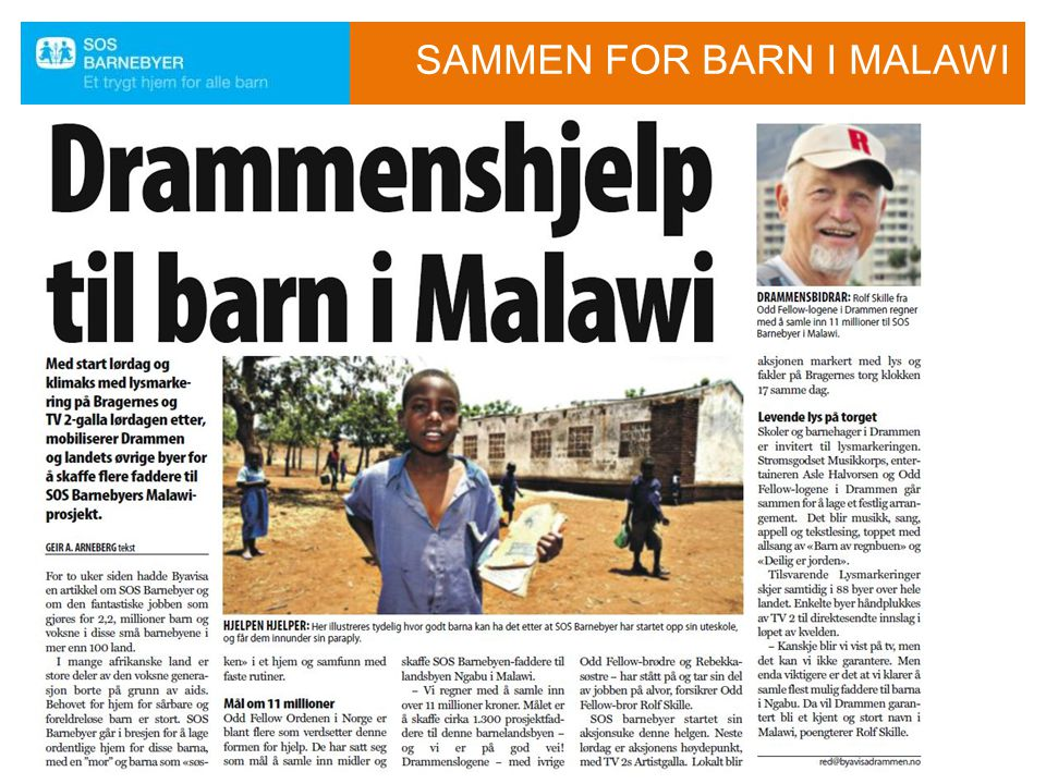 SAMMEN FOR BARN I MALAWI
