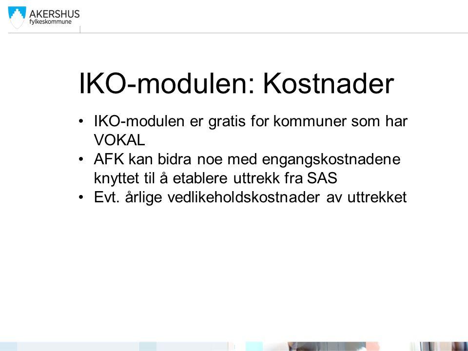 IKO-modulen: Kostnader