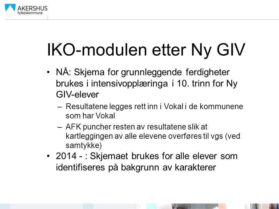 IKO-modulen etter Ny GIV