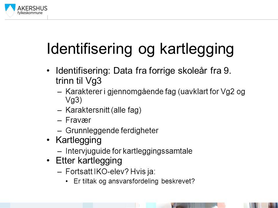 Identifisering og kartlegging