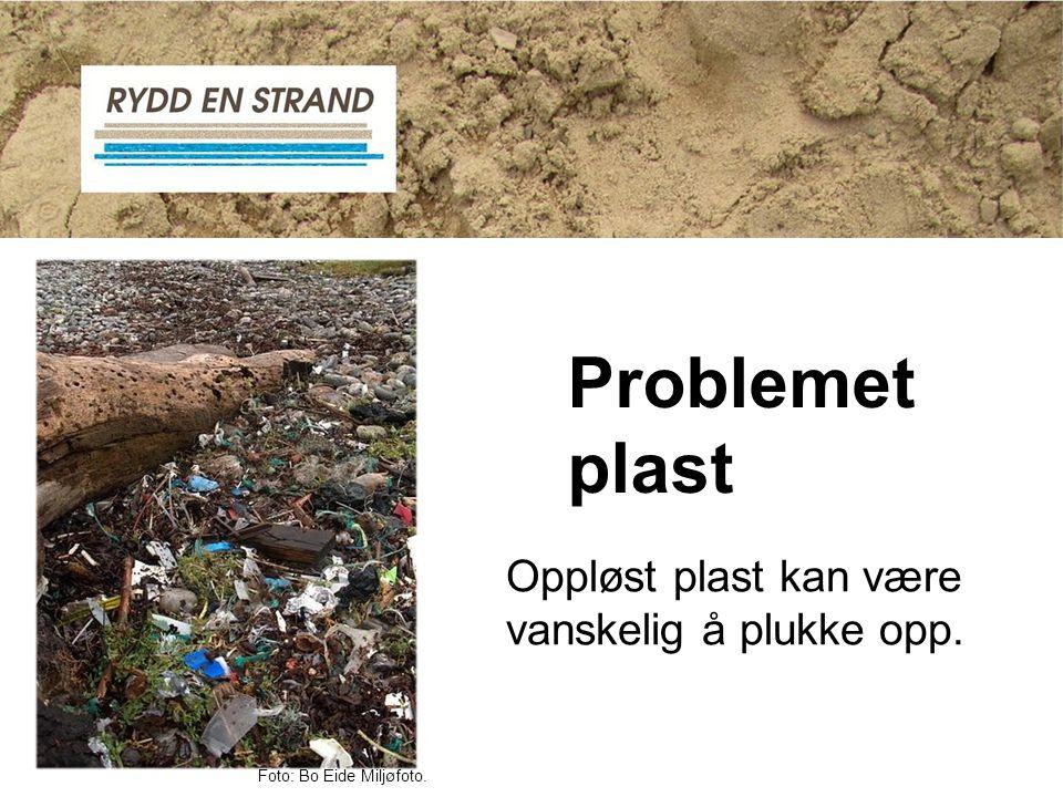 Problemet plast Oppløst plast kan være vanskelig å plukke opp.