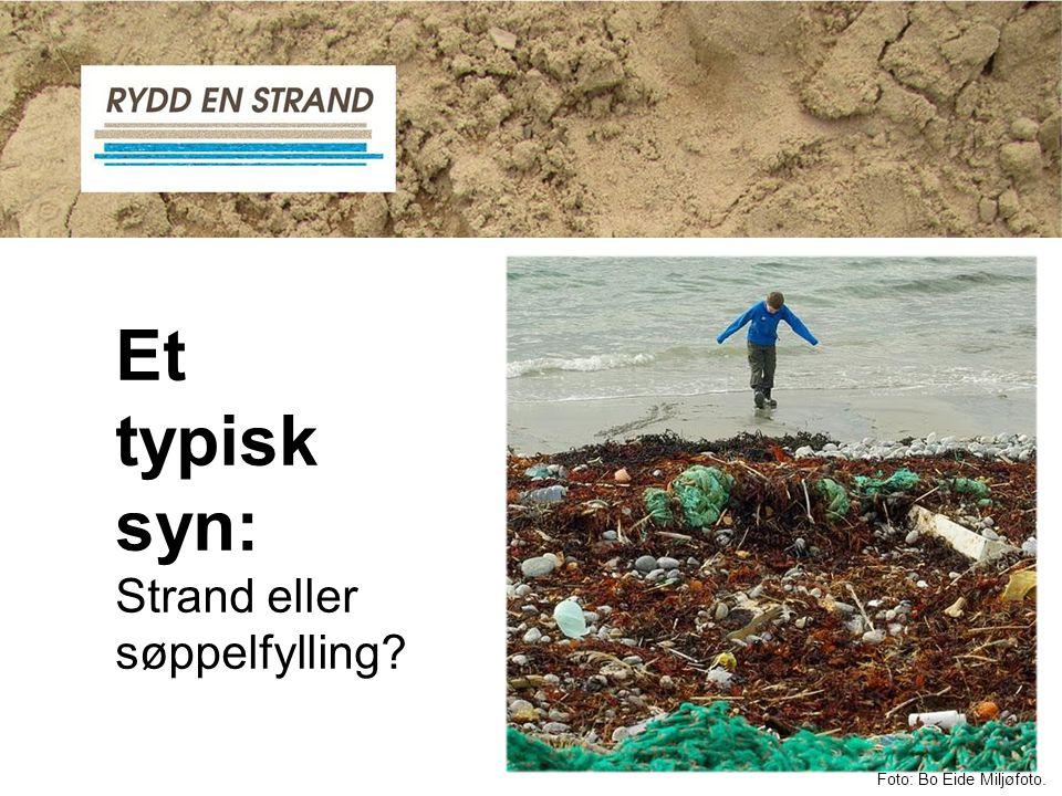 Et typisk syn: Strand eller søppelfylling Foto: Bo Eide Miljøfoto.