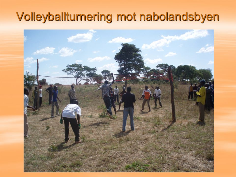 Volleyballturnering mot nabolandsbyen