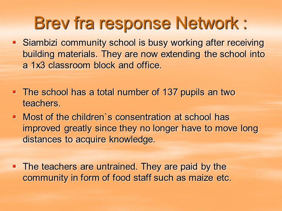 Brev fra response Network :