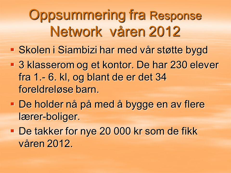 Oppsummering fra Response Network våren 2012