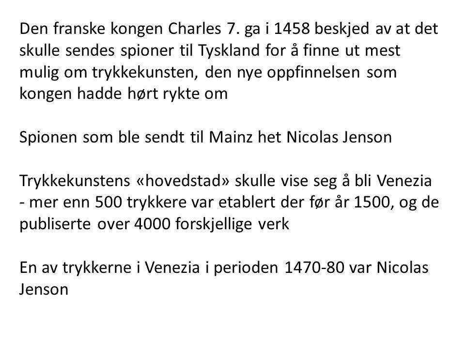 Den franske kongen Charles 7
