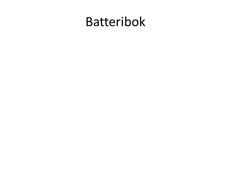 Batteribok