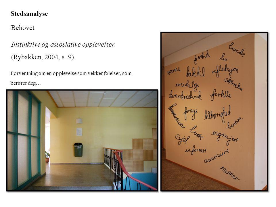 Instinktive og assosiative opplevelser. (Rybakken, 2004, s. 9).