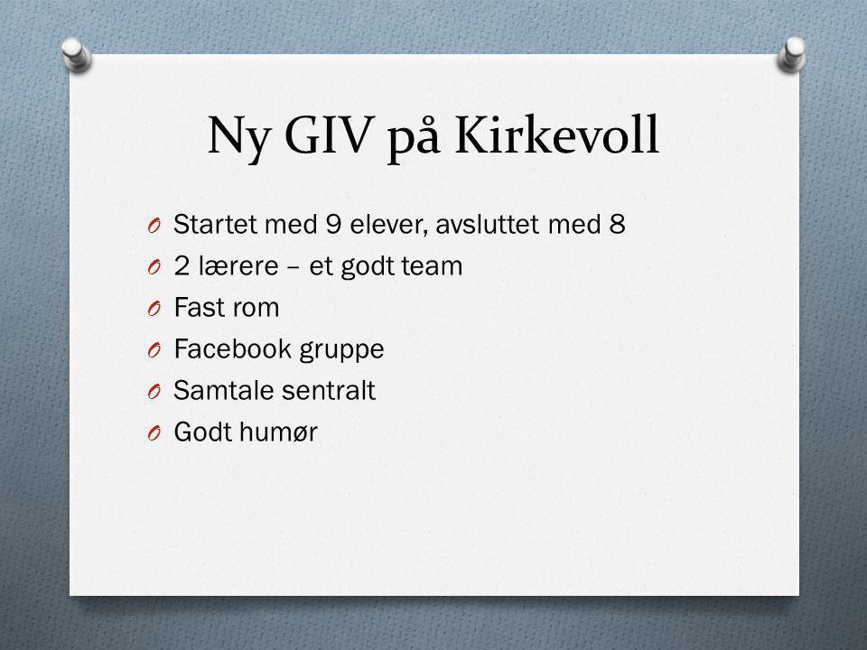 Ny GIV på Kirkevoll Startet med 9 elever, avsluttet med 8