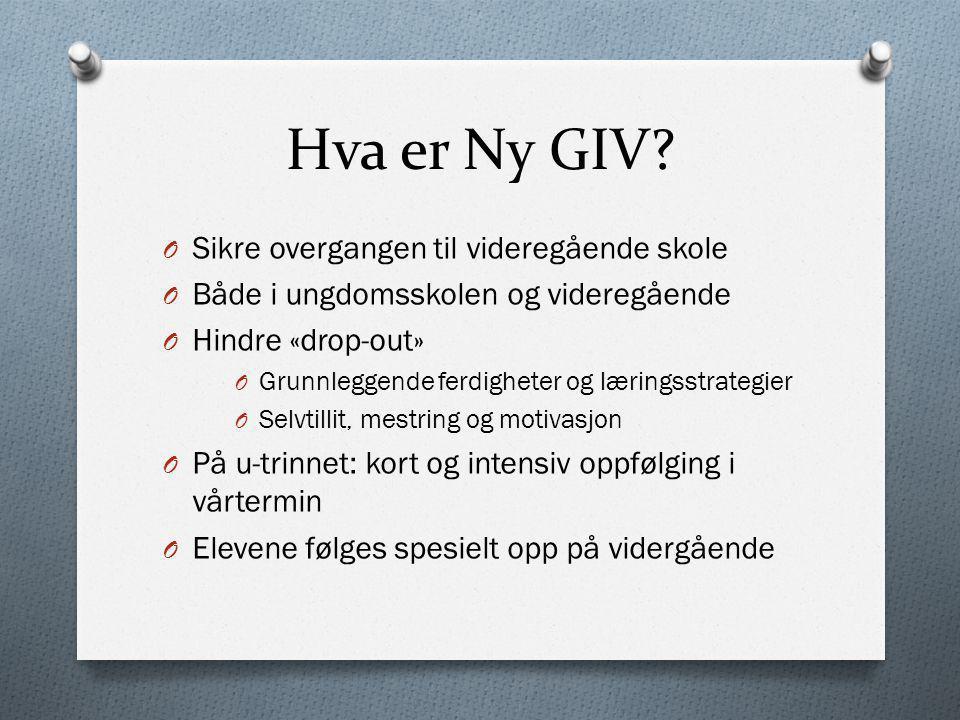 Hva er Ny GIV Sikre overgangen til videregående skole