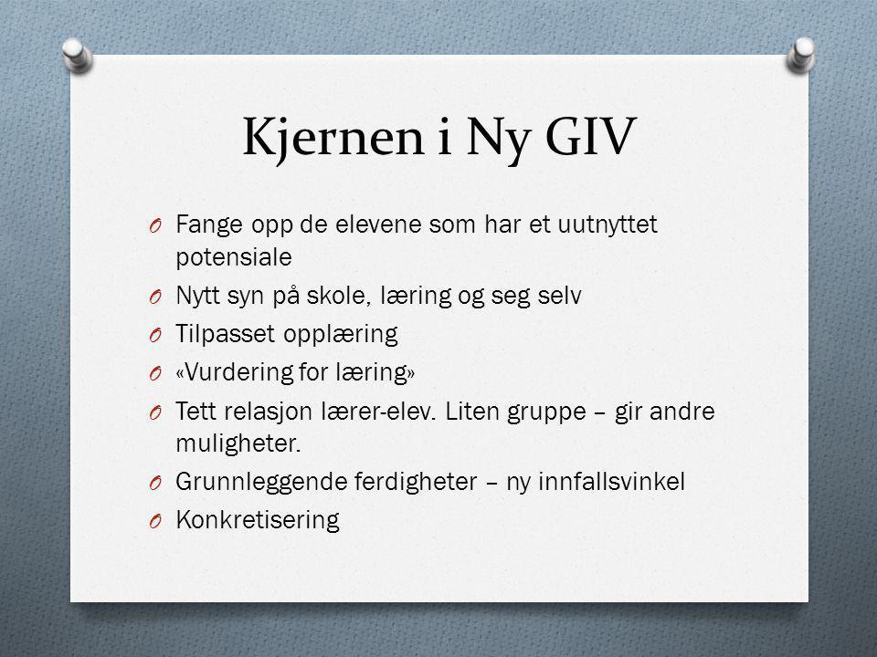 Kjernen i Ny GIV Fange opp de elevene som har et uutnyttet potensiale