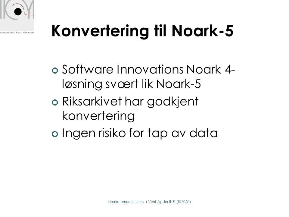 Konvertering til Noark-5