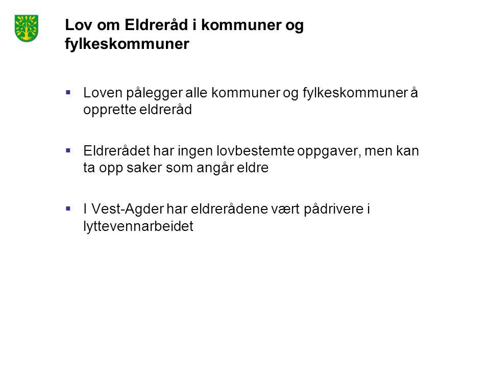 Lov om Eldreråd i kommuner og fylkeskommuner