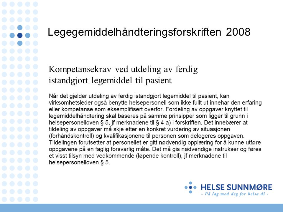 Legegemiddelhåndteringsforskriften 2008