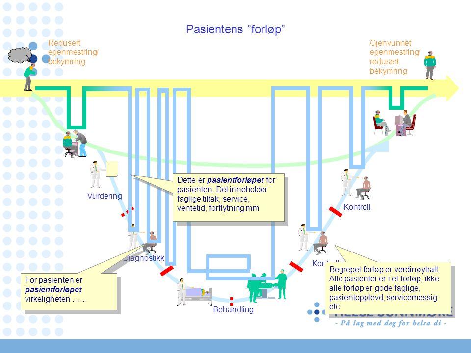 Pasientens forløp Redusert egenmestring/ bekymring