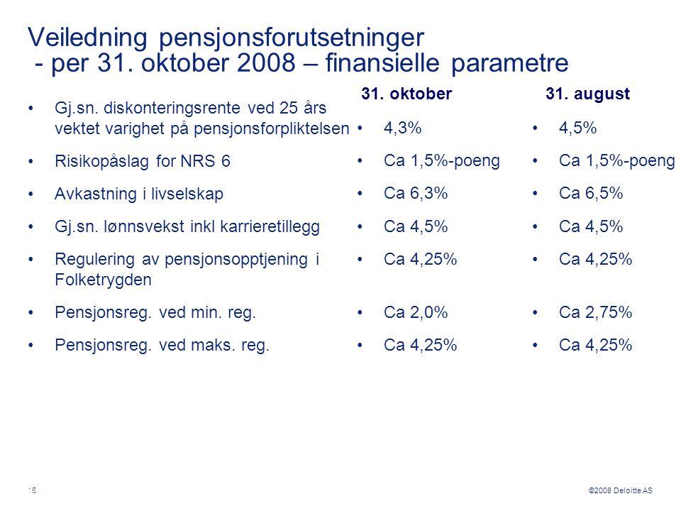 Veiledning pensjonsforutsetninger - per 31