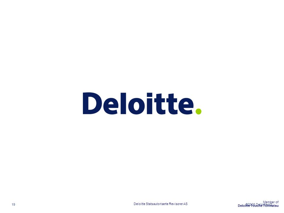Deloitte Statsautoriserte Revisorer AS