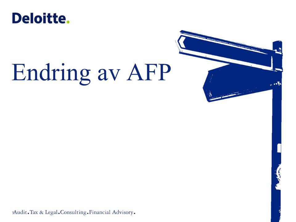 Endring av AFP