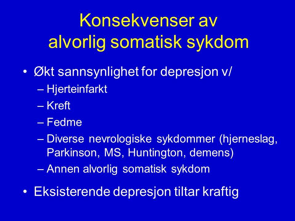 Konsekvenser av alvorlig somatisk sykdom