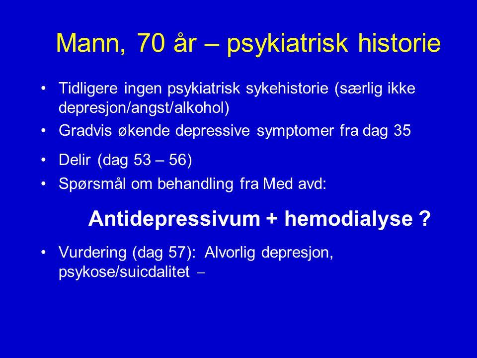 Mann, 70 år – psykiatrisk historie