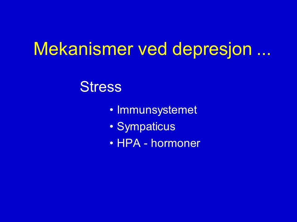Mekanismer ved depresjon ...