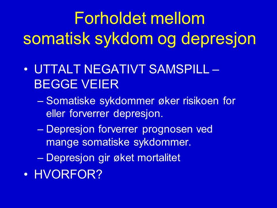 Forholdet mellom somatisk sykdom og depresjon