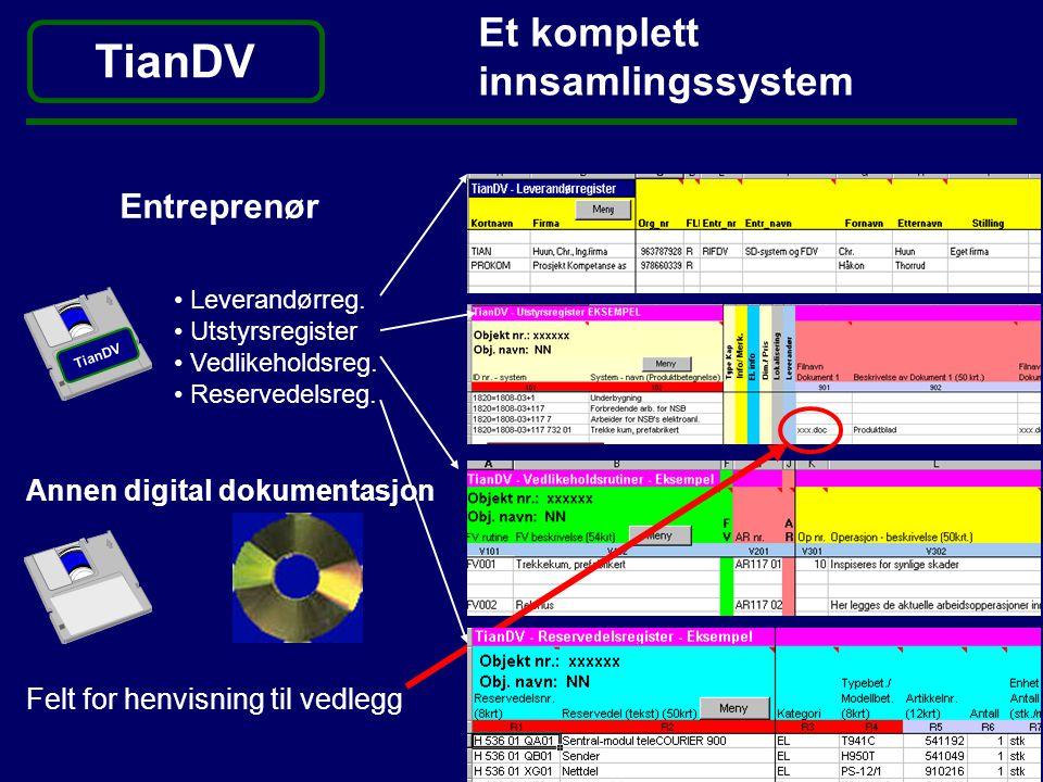 TianDV Et komplett innsamlingssystem Entreprenør